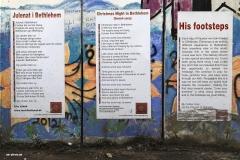 Liebet eure Feinde - eine für viele immer schwerer umzusetzende Botschaft. Die über 500 km lange Mauer ist eine Fläche für Kunst, Protest und Graffito und lockt auch deshalb viele Touristen an. Es wird vermutet, dass der Anstieg des Tourismus in Palästina eher politische als religiöse Gründe hat.